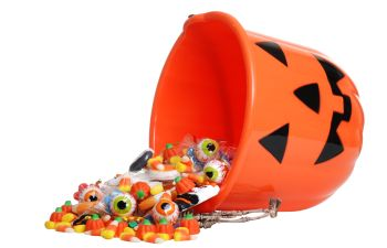 Halloween Bucket with Candy Spilling Out Los Angeles CA